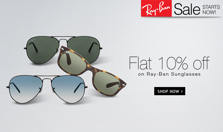 Flat 20% off on Ray BAn Subn Glasses