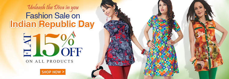 Fashion Sale Flat 15% off on All Products