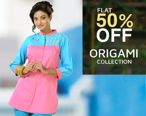 flat 50% off on origami collection