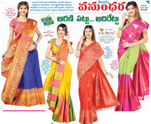 Kalanjali experimenting with fashion every day by adding some contemporary and urban touch to the traditional and classic Kanchivaram silk saree...