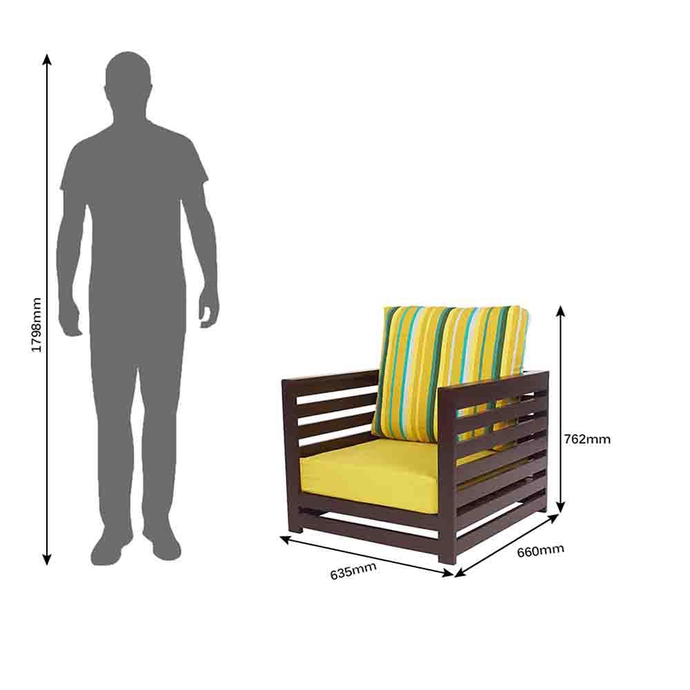 Buy Jinjer Contemporary Sofa Set (2+1 Seater Sofa+3 Stools ...
