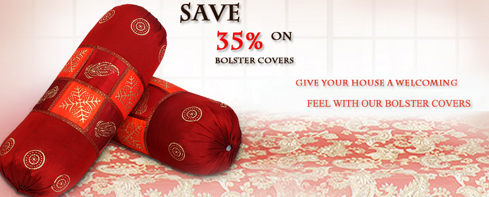 Buy Bolster Cushion Covers Online