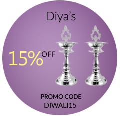 Buy online Silver Diyas