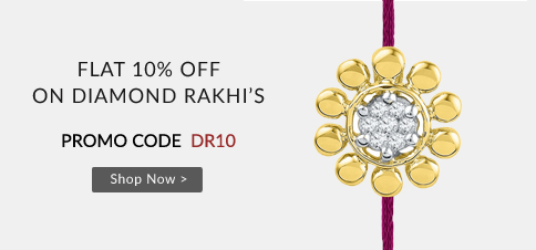 Buy Online Diamond Rakhi with 10% Off
