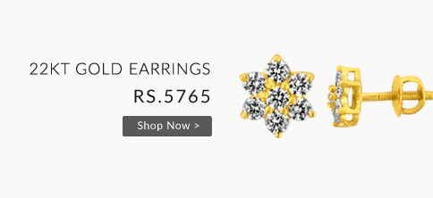 Buy 22KT  Gold Earrings For Rs.5765