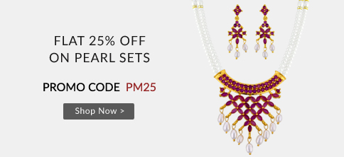 Buy online pearl jewellery with 25% Off