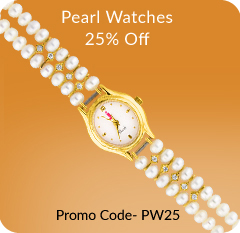 Wide Varieties of pearl watches Buy Online Flat 25% Off