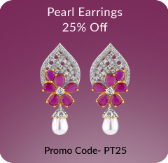 Buy Pearl Earrings With Flat 25% Off