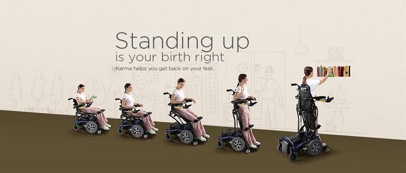 Karma Banner standing wheelchair
