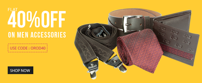 40% Off on Men Accessories