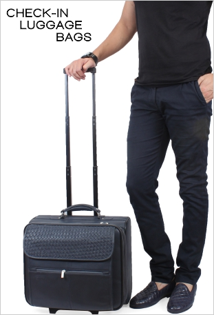 Leather Check in Luggage Bags