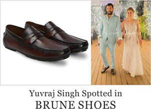 Yuvraj Singh spotted in Brune Shoes