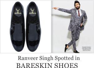 Ranvir Singh spotted in Bareskin Shoes