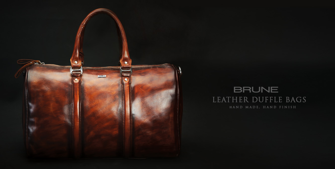 Brune Leather Duffle Bags