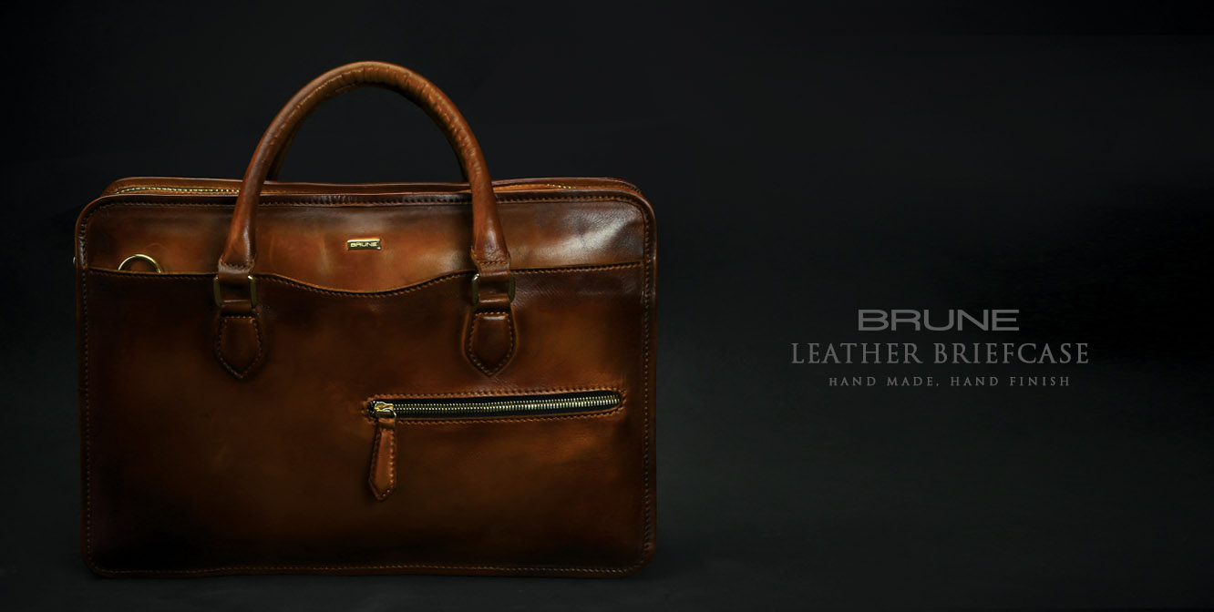 Handmade Leather Briefcases by Brune