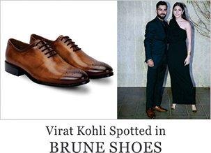 Virat kohli spotted in Brune Shoes