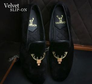 Bareskin Velvet Slip On Shoes