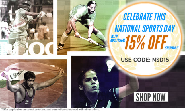 National sports day ADD 15% OFF