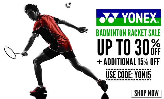 Badminton Rackets  upto 30% + additional 10% OFF