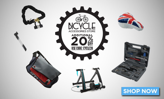 Cycle accessories and safety gears additional 20% 0ff