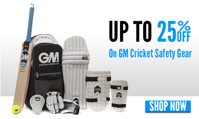 Upto 25% OFF on GM  Cricket Safety Gear