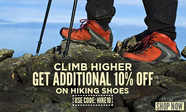 Hiking shoes additional 10% off