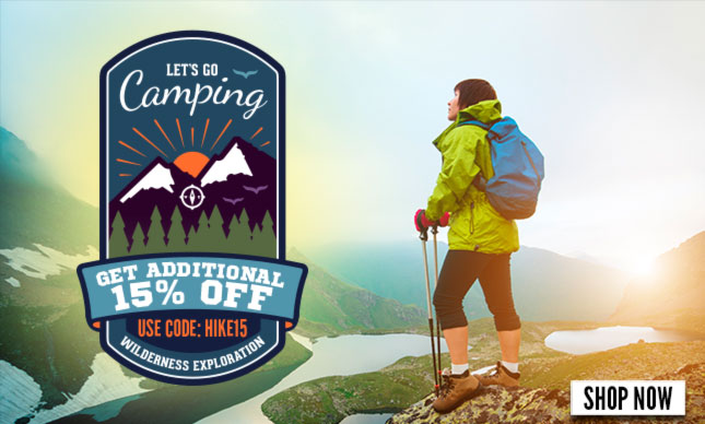 Hiking and camping bags Additional 15% off