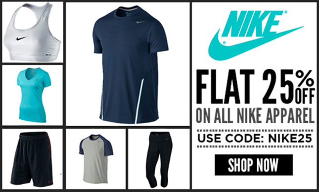 Nike Apparel 25% Off