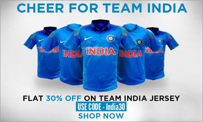 Team India Jersey Flat 30% off