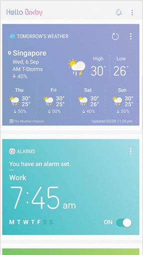 Bixby Home UI