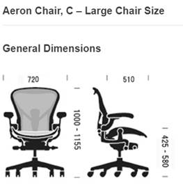 Aeron Chair, C Medium Chair Size