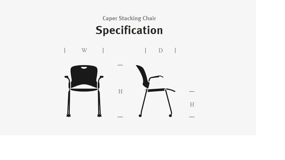 Caper Chair Dimensions Graphic