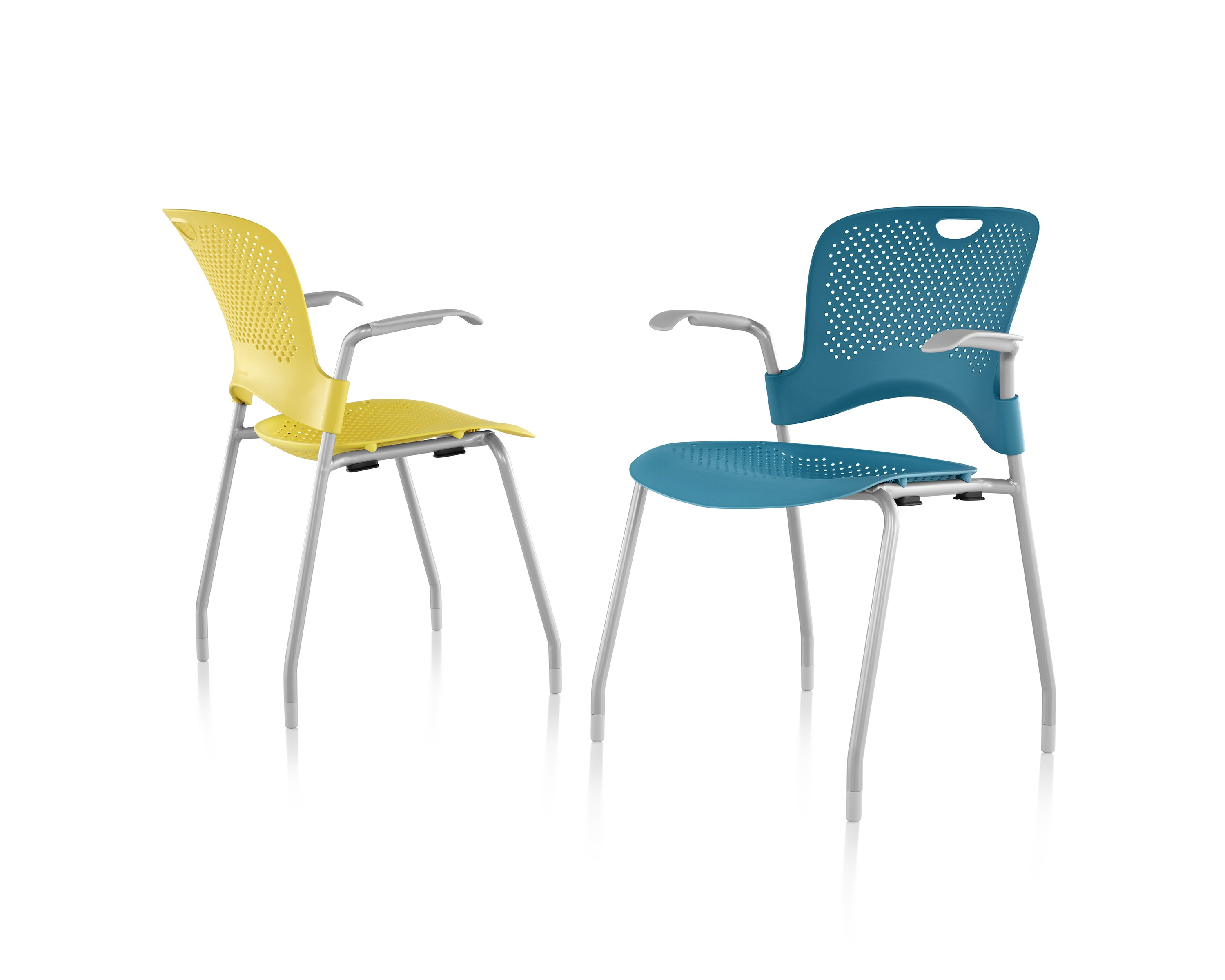 Blue and Yellow Caper Chairs