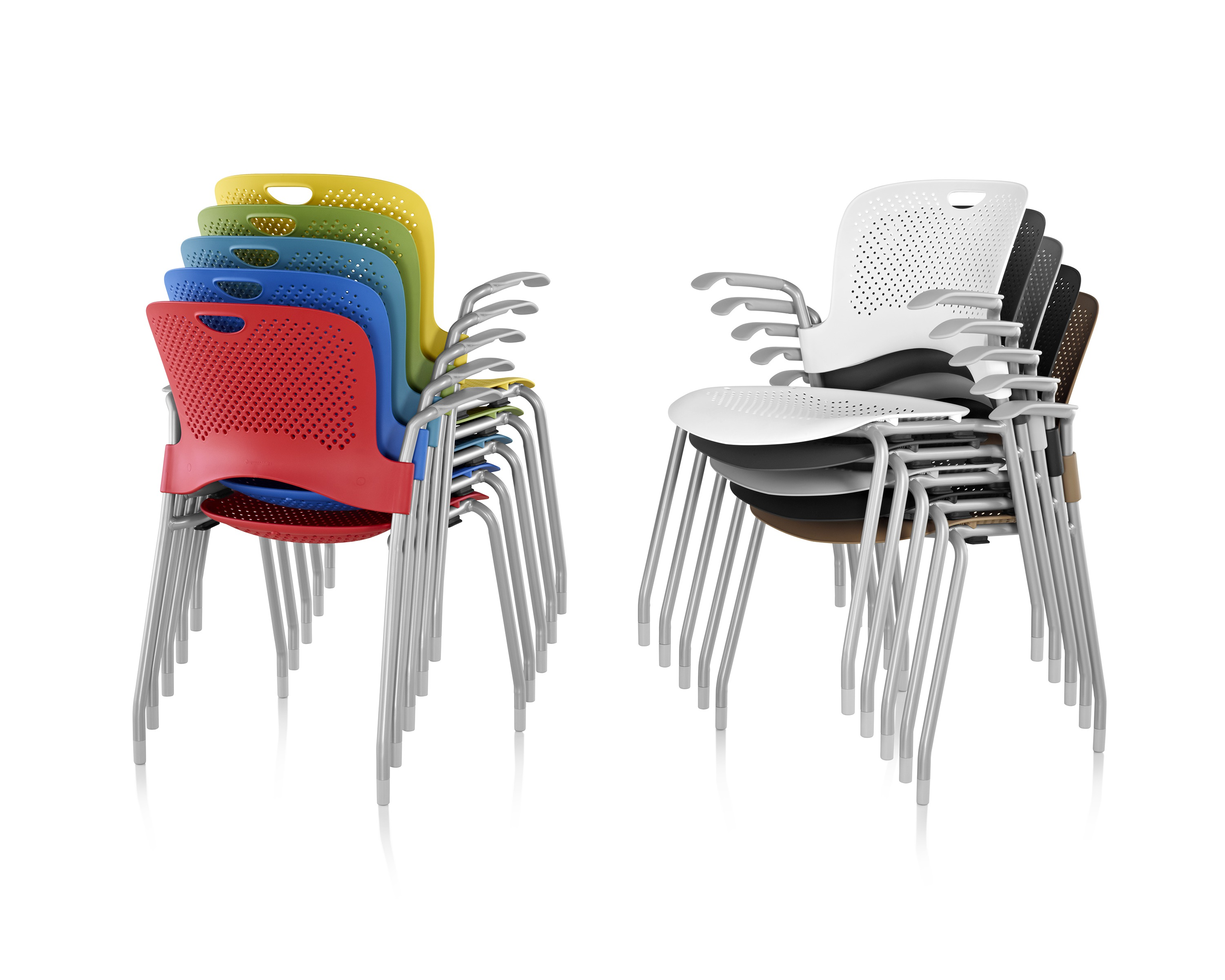 Colorful Stacked Caper Chairs