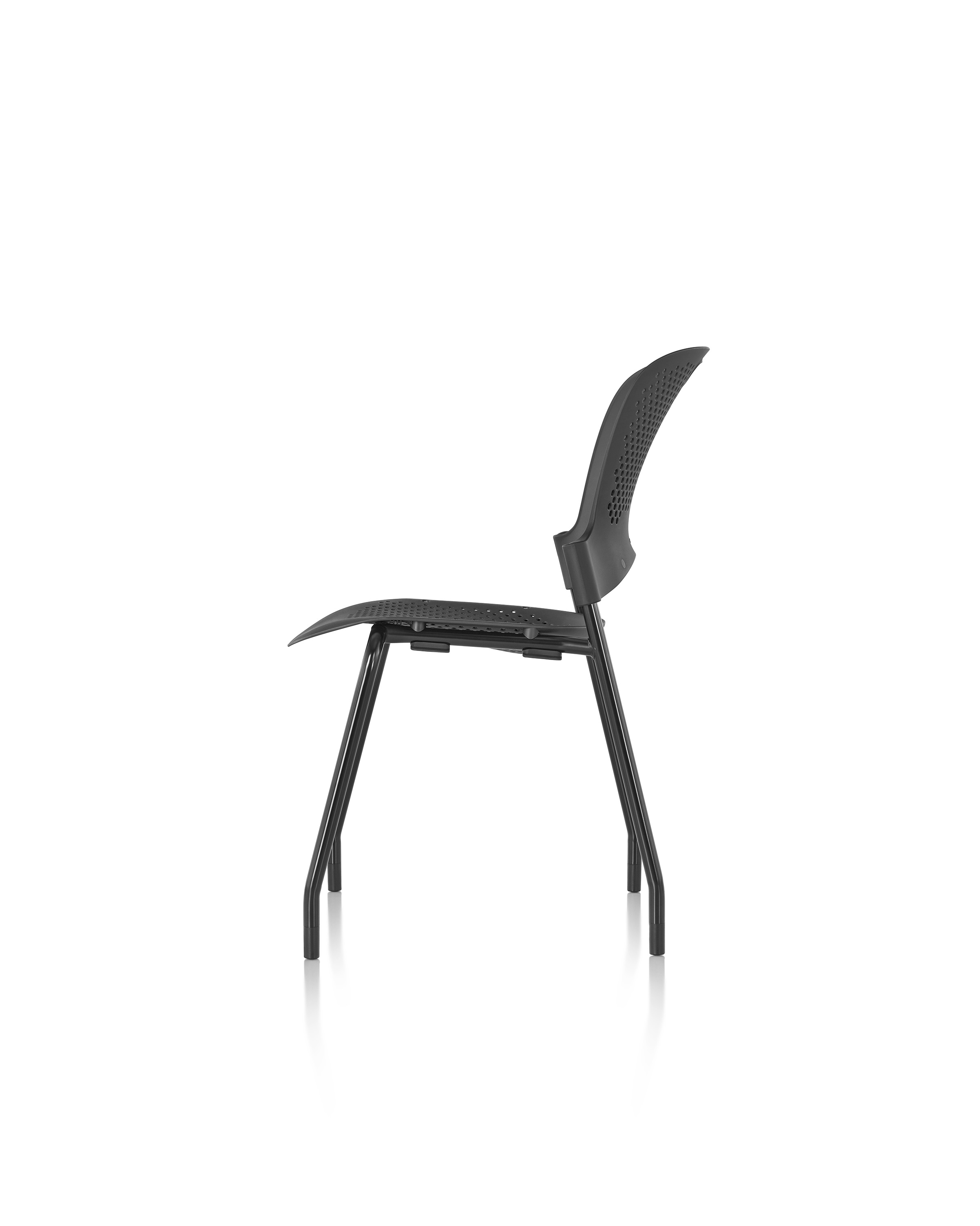 Side View Black Caper Chair