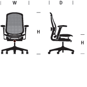 Celle Chair Dimensions Graphic