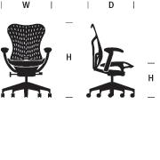 Mirra 2 Chair Dimensions Graphic