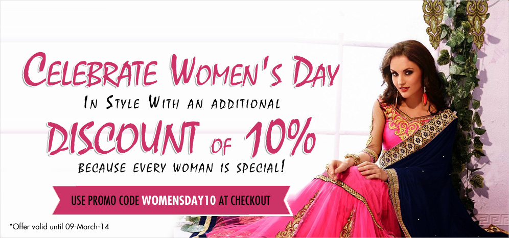 Women's Day Special offer 10% Discount on all products