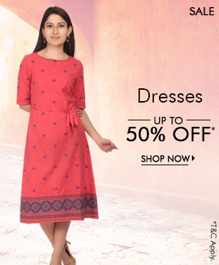 Dresses - upto 50% off