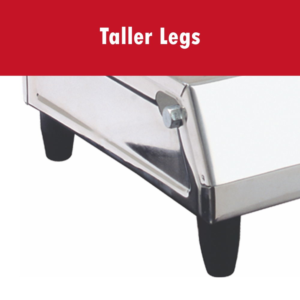 TALLER LEGS & FOLDED EDGES
