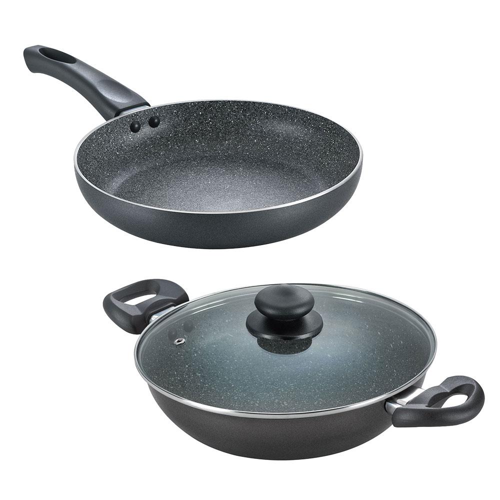 Granite Kadai 240 mm + Fry Pan 240 mm