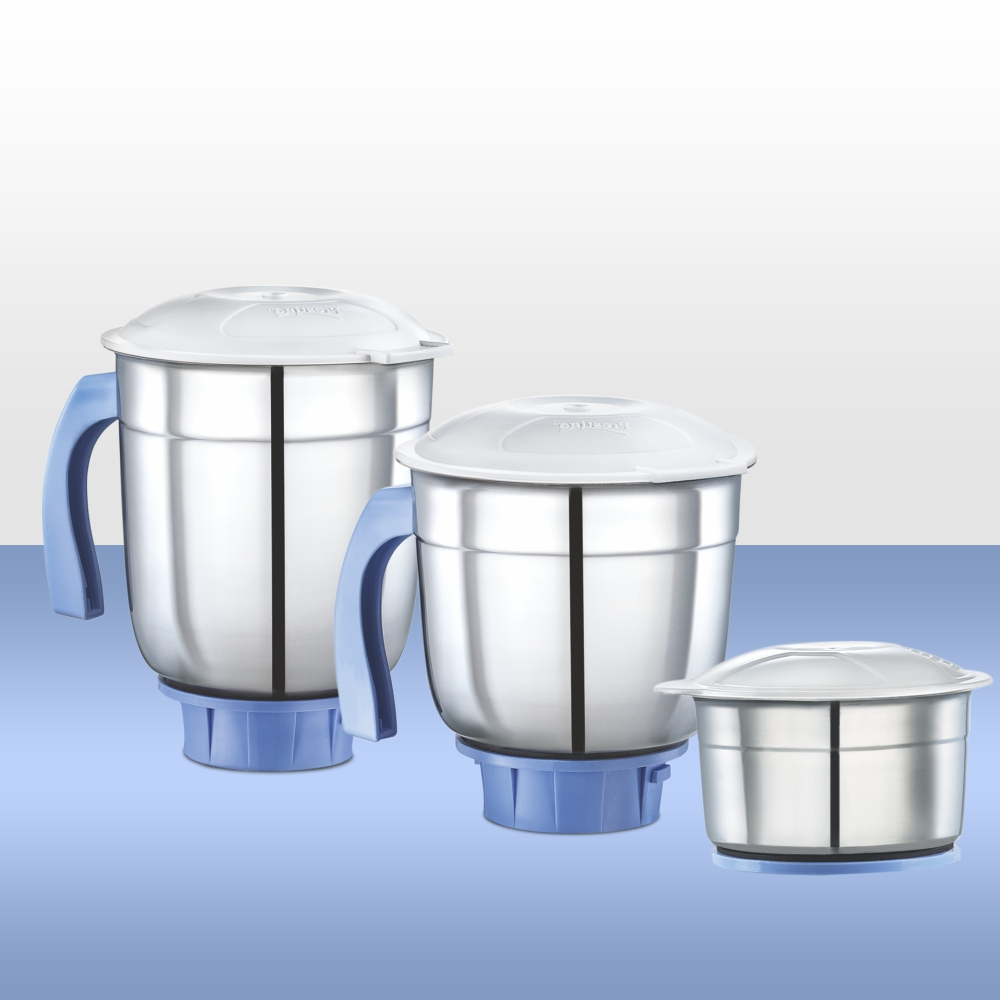 3 STAINLESS STEEL JARS