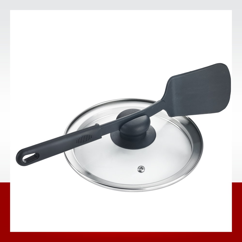 GLASS LID WITH LADLE HOLDER