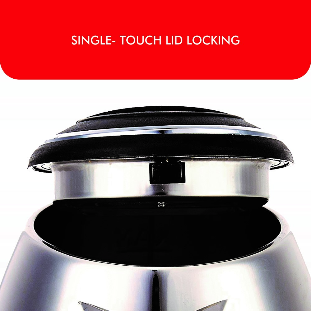 SINGLE- TOUCH LID LOCKING